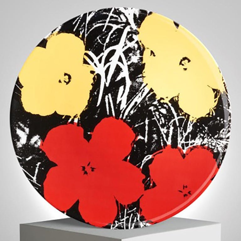 Contemporary Flowers Plate Set after Andy Warhol For Sale