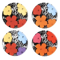 Flowers Plate Set after Andy Warhol