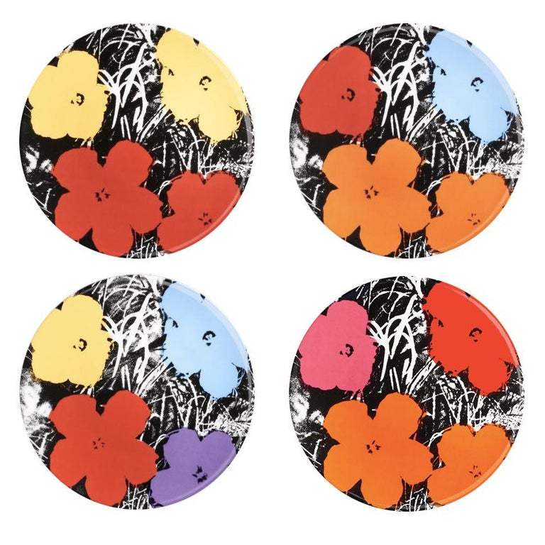 Flowers Plate Set after Andy Warhol For Sale