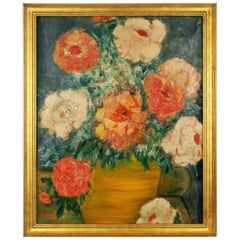 Flowers Still Life Painting, 1950