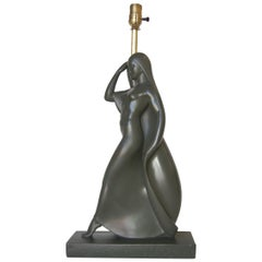 Flowing Female Figure Ceramic Table Lamp by Haruil