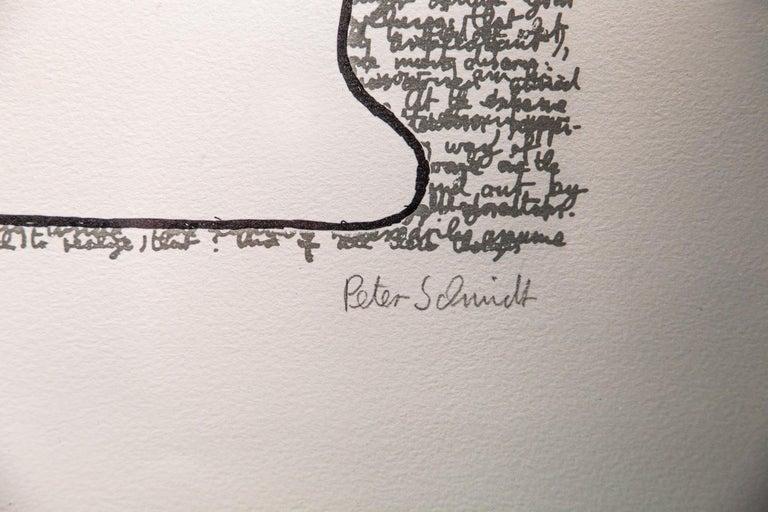 British Flowing in the Right Direction by Peter Schmidt, 1971, Europaeische Graphik For Sale