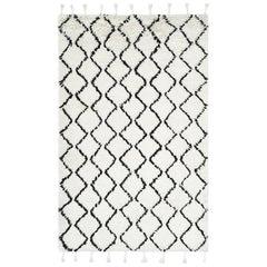 Floyd, Bohemian Shaggy Moroccan Hand-Woven Area Rug, Snow