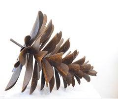 "Original steel sculpture by Floyd Elzinga CLASSIC PINE CONE 36"" #19-355"