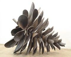 "Original steel sculpture by Floyd Elzinga CLASSIC PINE CONE 48"" #19-221"