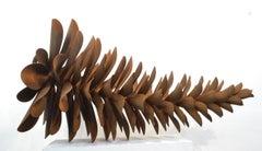 """Original steel sculpture by Floyd Elzinga PINE CONE 60"""" #18-616"""