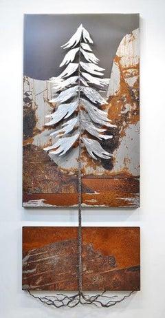 Original steel wall panel by Floyd Elzinga STANDING STRONG #19-424