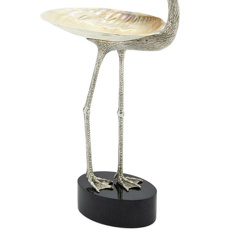 Italian Floyd with Shell Cup in Silvered Finish For Sale