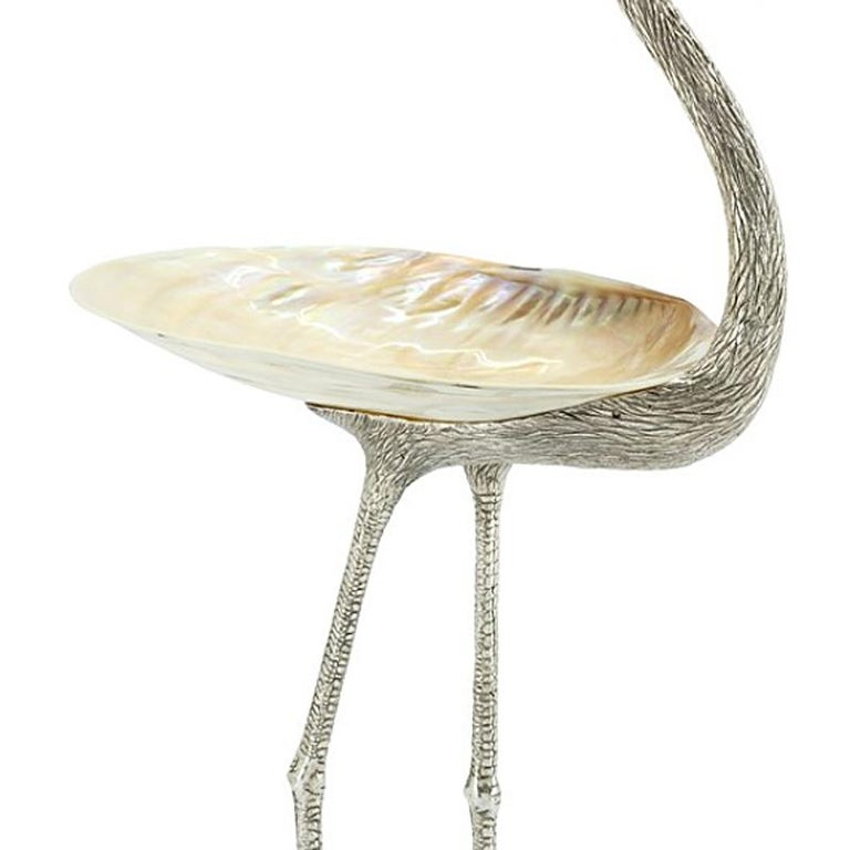 Floyd with Shell Cup in Silvered Finish In New Condition For Sale In Paris, FR