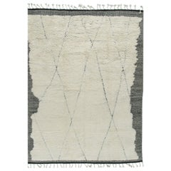 Fluffy Erased Moroccan Style Rug, 7'9 x 10'4