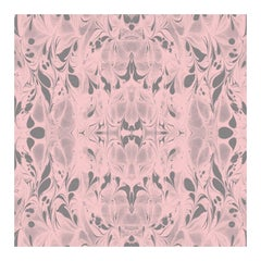 """""""Fluid"""" Marbleized Pattern in Rose Quartz Color-Way, on Smooth Paper"""