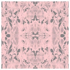"""Fluid"" Marbleized Pattern in Rose Quartz Color-Way, on Smooth Paper"