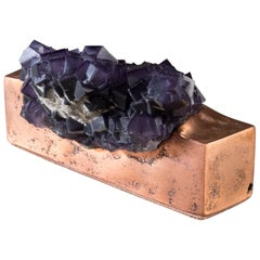 Fluorite on Copper Base