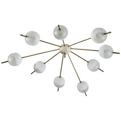Flush Mount Ceiling Light by Angelo Lelli for Arredoluce