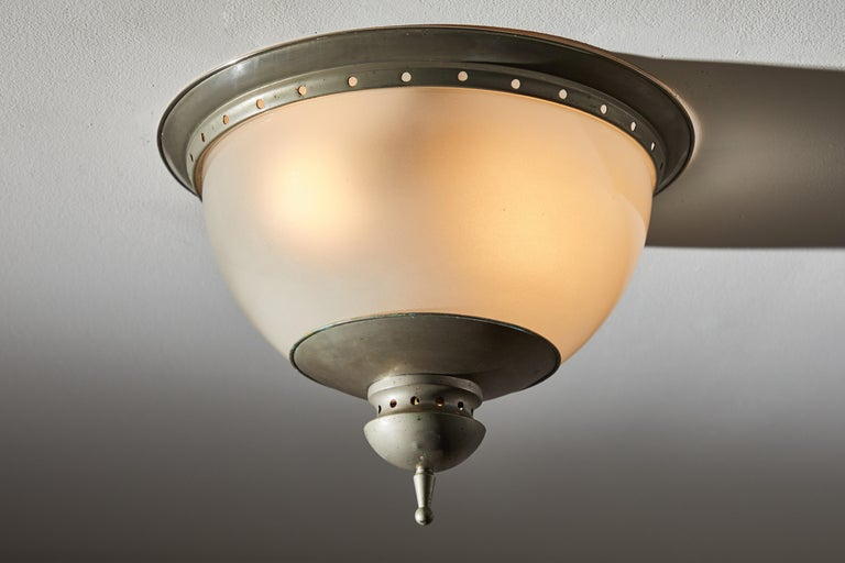 Mid-Century Modern Flush Mount Ceiling Light by Caccia Dominioni for Azucena For Sale