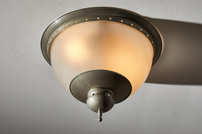 Italian Flush Mount Ceiling Light by Caccia Dominioni for Azucena For Sale