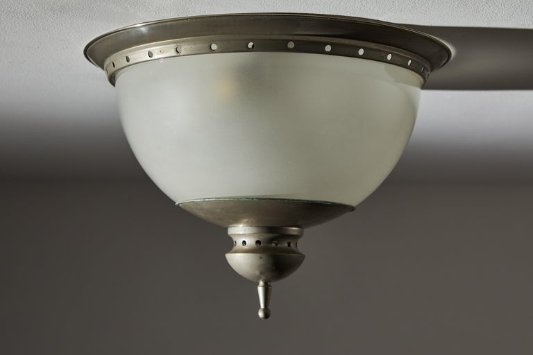 Plated Flush Mount Ceiling Light by Caccia Dominioni for Azucena For Sale