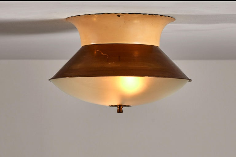 Mid-Century Modern Flush Mount Ceiling Light by Lumi For Sale