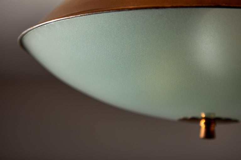 Brass Flush Mount Ceiling Light by Lumi For Sale