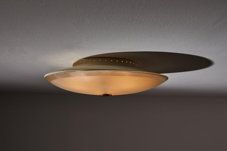 Mid-Century Modern Flush Mount Ceiling Light by Stilnovo For Sale