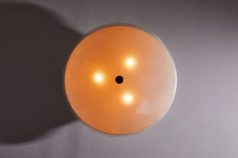 Italian Flush Mount Ceiling Light by Stilnovo For Sale