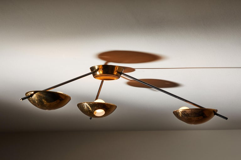 Flush Mount Ceiling Light by Stilnovo In Good Condition For Sale In Los Angeles, CA