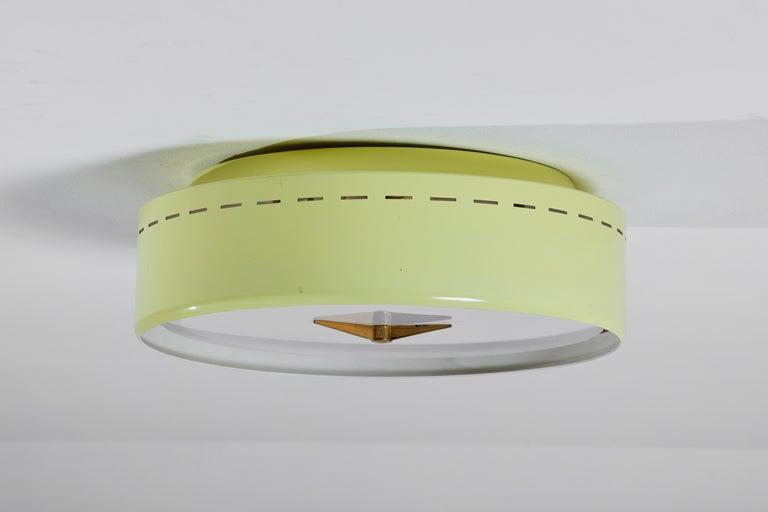 Lacquered Flush Mount Ceiling Light by Stilnovo For Sale
