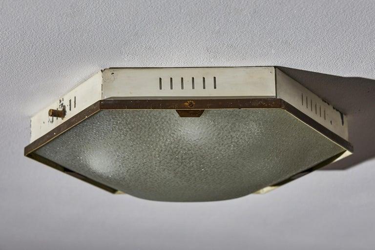 Mid-20th Century Flush Mount Ceiling Light by Stilnovo For Sale