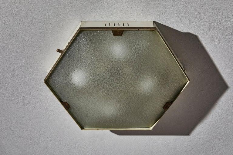 Metal Flush Mount Ceiling Light by Stilnovo For Sale