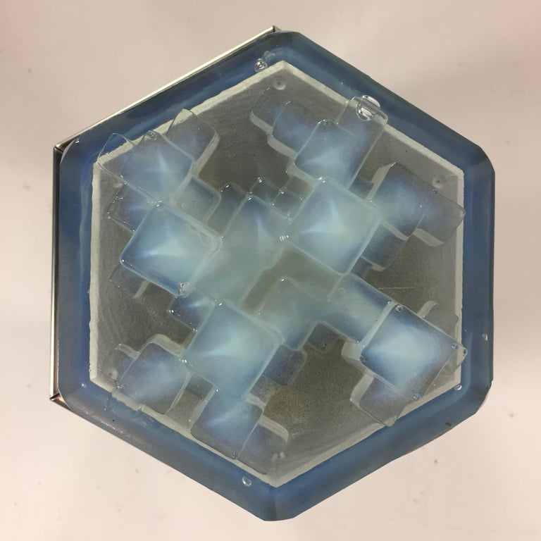 Mid-Century Modern Flush Mount from Poliarte, Italy, 1960s For Sale