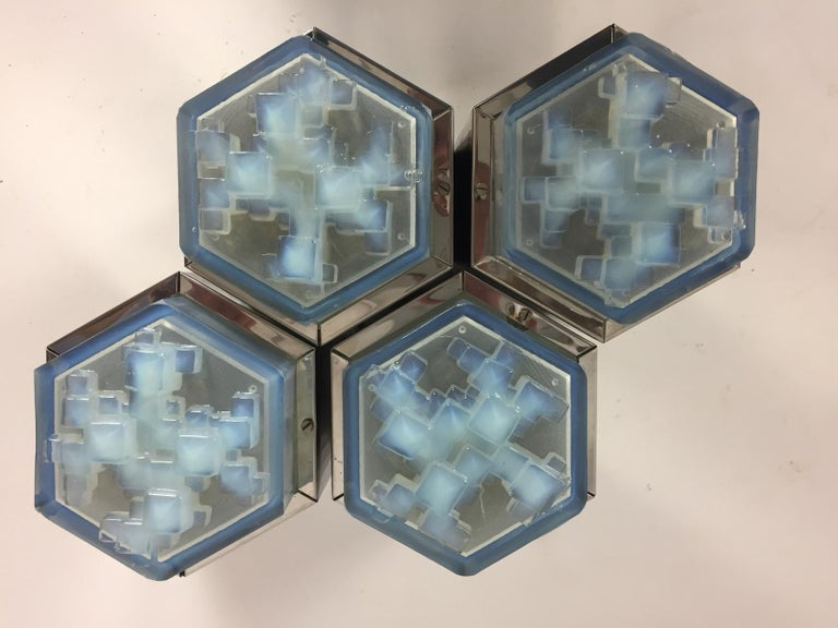 Italian Flush Mount from Poliarte, Italy, 1960s For Sale