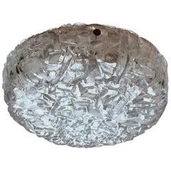 Flush Mount Light in Heavy Glass by Kaiser Leuchten
