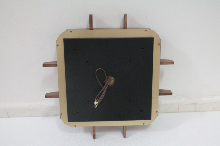 Mid-20th Century Flushmount Wood Teak Esperia Design Angelo Brotto, 1960s For Sale