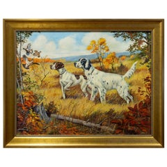"""Flush"" Original Oil Painting by Ole Larsen for the Shaw Barton Calendar Co."