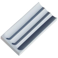 Flute Pencil Tray in Pale Blue