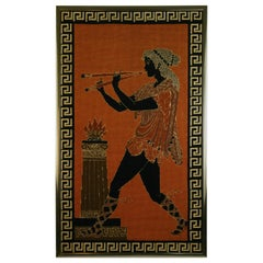 Flute Player Hand Woven Tapestry