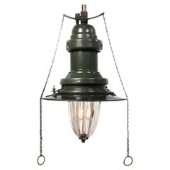 Fluted Glass Gas Lamp