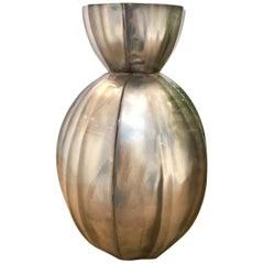 Fluted Squash-Form Vase