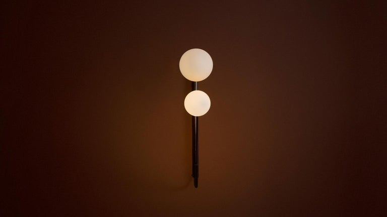 Modern Flutter I- Burnt Brass Sconce by Paul Matter For Sale