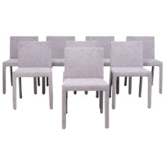 Modern Fly Tre Grey Dining Chairs by Carlo Colombo for Poliform, Set of 8