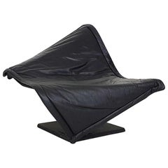 """Flying Carpet"" Leather Lounge Chair by Simon Desanta for Rosenthal, Germany"
