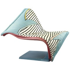 Flying Carpet Lounge Chair by Simon Desanta for Rosenthal, Memphis Style Fabric