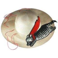 Flying Kliban Cat Hat