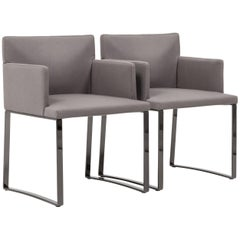 Flynt Grey Wool Armchairs by Rodolfo Dordoni for Minotti, Set of 2