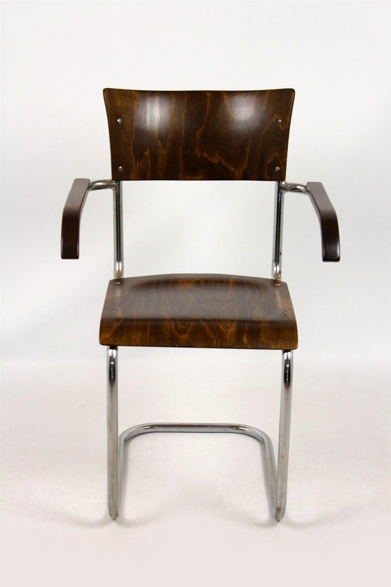 Bauhaus Fn 6 Cantilever Chair by Mart Stam for Mücke-Melder, 1930s For Sale