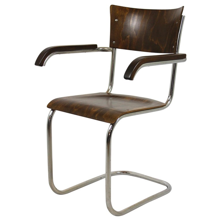 Fn 6 Cantilever Chair by Mart Stam for Mücke-Melder, 1930s For Sale