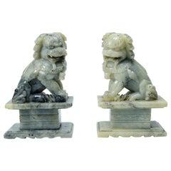 Fo Couple Dog Sculptures