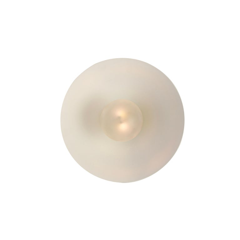 Modern Focal Point Wall Sconce in Brass and White Enamel by Blueprint Lighting, 2019 For Sale