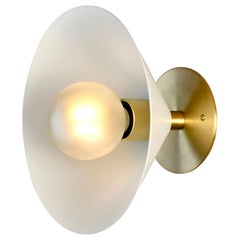 Focal Point Wall Sconce in Brass and White Enamel by Blueprint Lighting, 2019