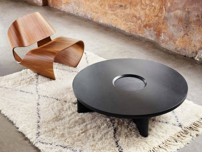 The Contemporary Focus Collection Combines Carved Blackened Oak With Organic Richness Of Dark Welsh Slate